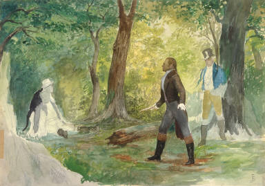 Study for the Duel of Burr and Hamilton