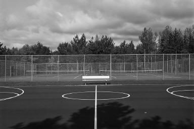 Tennis Court, Near Brainerd, Minnesota
