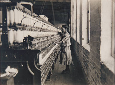 11 Year Old Spinner in a Cotton Mill, North Carolina