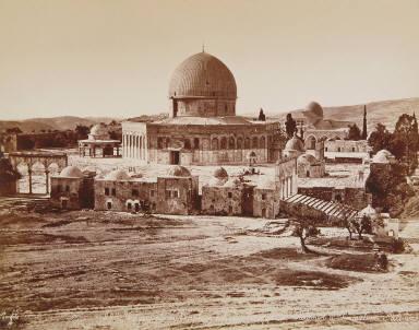 Vue générale de l'emplacement du Temple de Salomon à Jerusalem, Palestine
