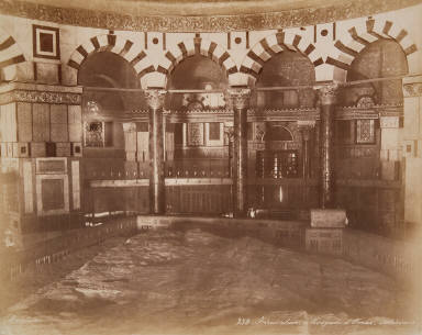 Mosque d'Omar, interieur, Jerusalem