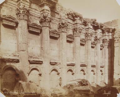 Interieur du temple de Jupiter, Balbek