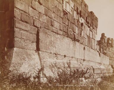 Mur cyclopeen à Balbek, Syrie