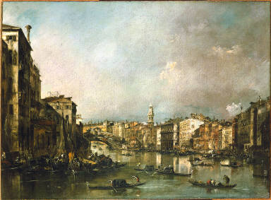 View up the Grand Canal Toward the Rialto