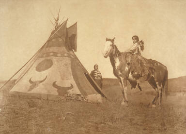 A Painted Tipi-Assiniboin