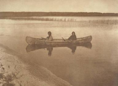A Cree Canoe on Las les Isles