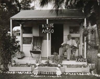 Man on Porch, Florida
