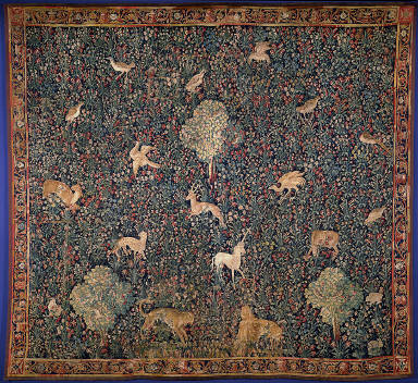 Allegorical 'Millefleurs' Tapestry with Animals