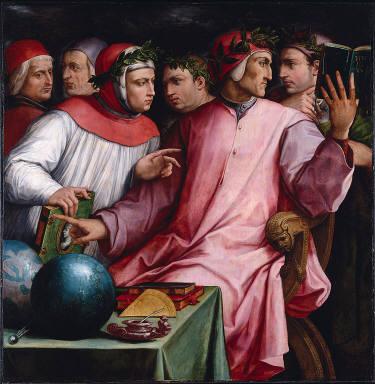 Portrait of Six Tuscan Poets