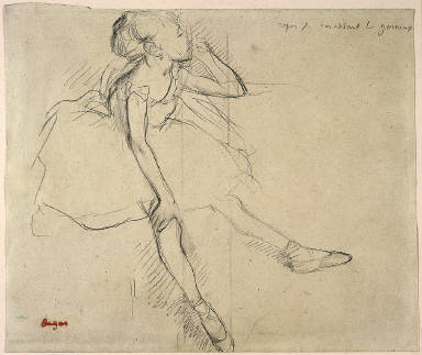Ballet Girl in Repose