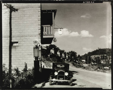Filling Station and Company Houses for Miners, Vicinity Morgantown, West Virginia