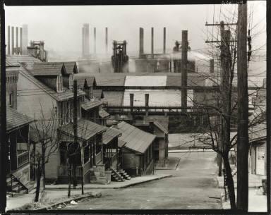Houses and Steel Mill, Bethlehem, Pennsylvania