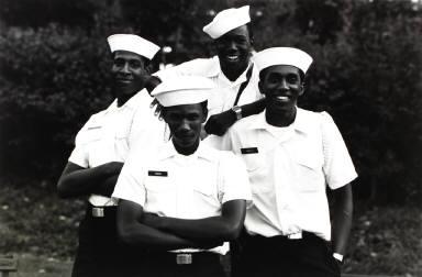 Four Coast Guard Cadets, Great America Amusement Park, Chicago