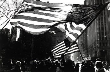 American Flags, Freed Iranian Hostage Celebration, New York City, January 30, 1981