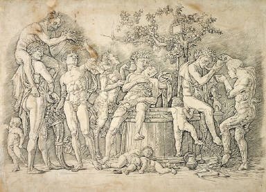 Bacchanalian Group with a Wine Press