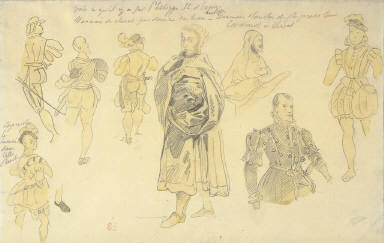 Studies for Costumes for Philip II