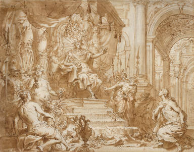 Phaeton asks his Father Phoebus for the Sun's Chariot
