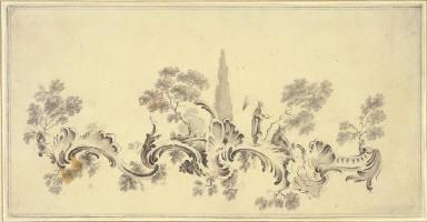 Chinoiserie Ornament Design (Chinoiserie Scene)