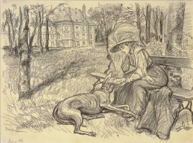 Young Woman and a Dog