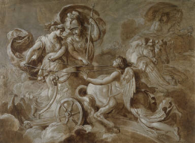 Iris, at the Behest of Zeus, Warns Athena and Juno not to Assist the Greeks in their War with the Trojans