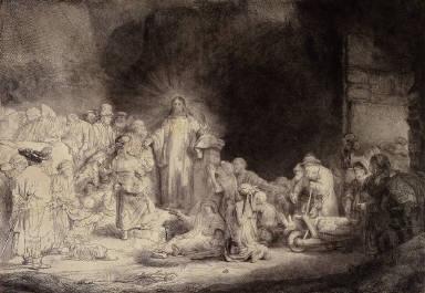 Christ with the Sick Around Him, Receiving Little Children