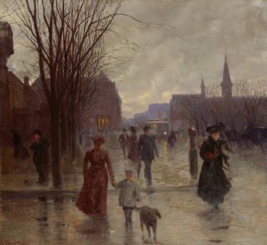 Rainy Evening on Hennepin Avenue