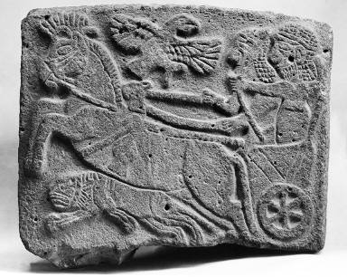 Orthostat relief: hunting scene