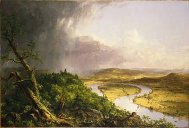 View from Mount Holyoke, Northampton, Massachusetts, after a Thunderstorm-The Oxbow
