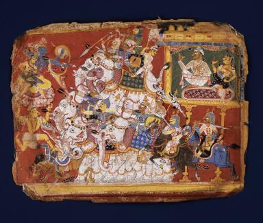 Krishna Battles the Armies of the Demon Naraka: Page from a Dispersed Bhagavata Purana