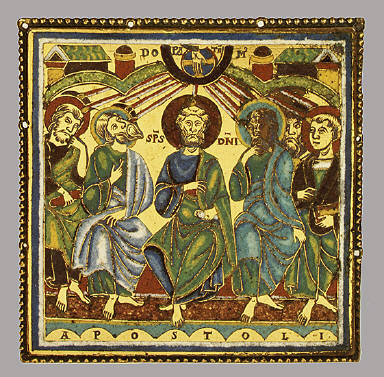 Plaque Showing the Pentecost