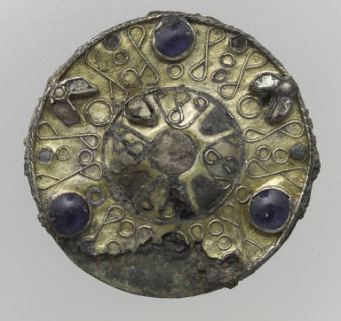Filigree Disk Brooch