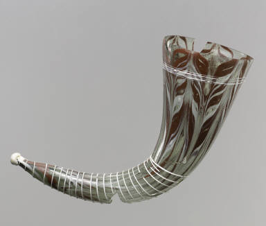 Glass Drinking Horn