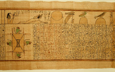 Section from the 'Book of the Dead' of Nany