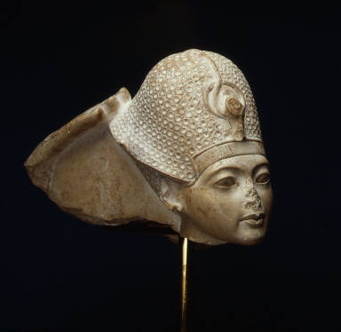 Tutankhamun Wearing the Blue Crown