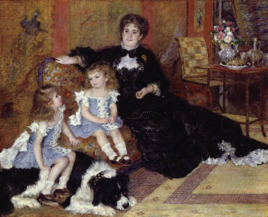 Madame Georges Charpentier (Marguerite-Louise Lemonnier, 1848-1904) and Her Children, Georgette-Berthe (1872-1945) and Paul-Émile-Charles (1875-1895)