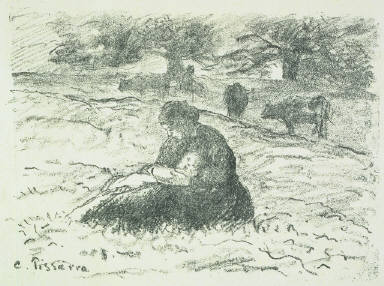 Mother and Child in the Fields
