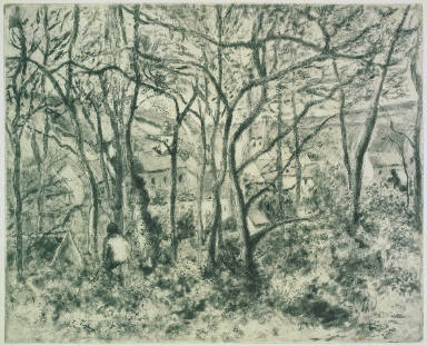 Wooded Landscape at the Hermitage (Pontoise)