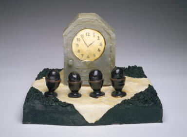 Picnic with Clock and Egg Cups