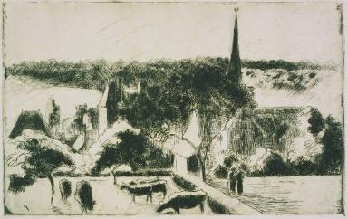 Church and Farm at Éragny-sur-Epte