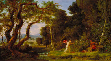 The Idalian Woods with Cephisa and Cupid