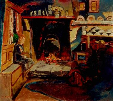 Four Children in a Breton Cottage