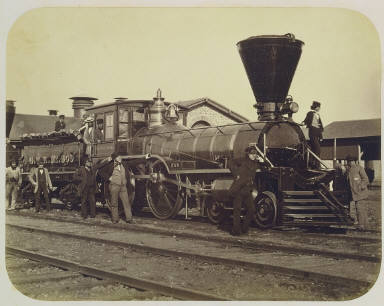 """""""Trevithick"""" Engine, Grand Trunk Railway, Montreal"""