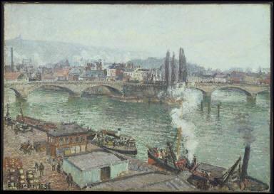 The Stone Bridge in Rouen, Dull Weather