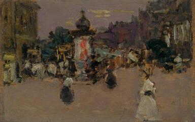Paris Street with Kiosk