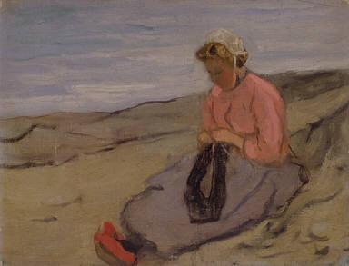 Girl Knitting (near Saint-Malo, Brittany)