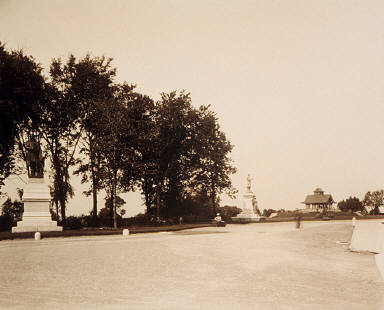 View Showing Statues, Parliament Hill