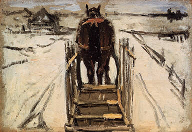 Horse and Sled