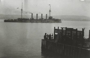 H.M.S. Drake off Ile d'Orléans