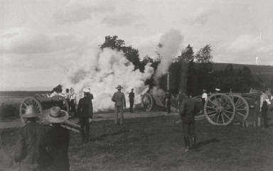 Artillery Practice, North Side of Ile d'Orléans