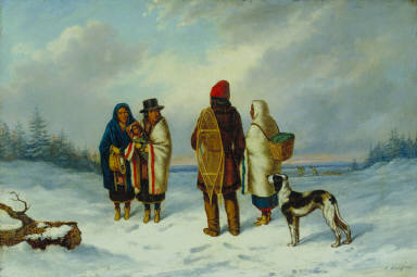 Indians in a Snowy Landscape